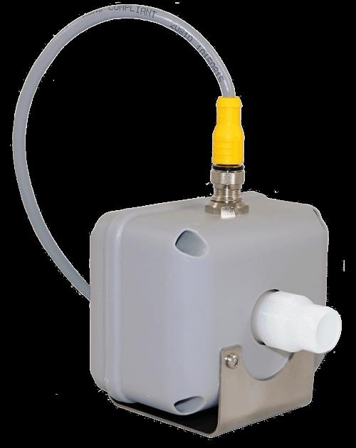 Aquflow 'Mag-Meter' flow indicator meter uses magnetic waves to sense the flow of the conductive liquid