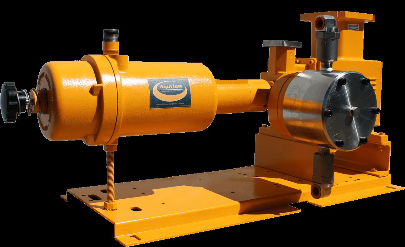 Aquflow hydraulic metering pump
