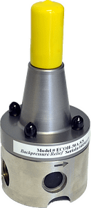 Back pressure valves are mounted on the discharge line to ensure a constant pressure for the discharge check assembly on the metering pump