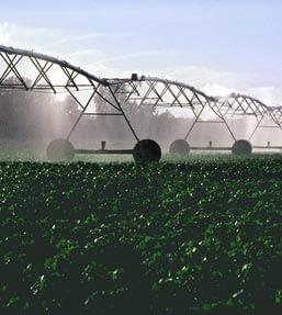 Fertilizing crops on a farm