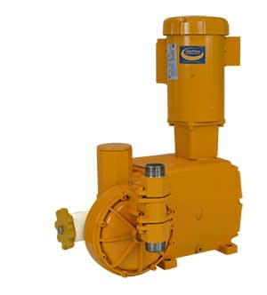 AquFlow Series 3000 compact hydraulically actuated diaphragm metering pump